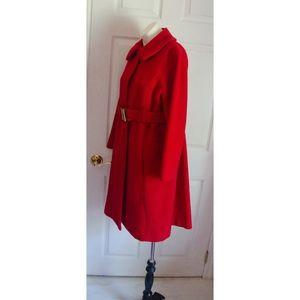 Vintage Bill Atkinson Red Wool Winter Coat